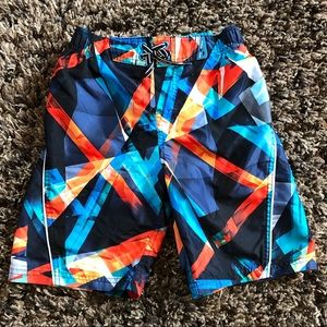 Boys Lined Swim-trunks/ Board Shorts Sz L-7